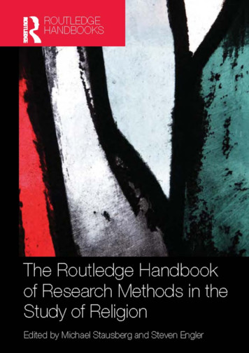 The Routledge Handbook of Research Methods in the Study of .