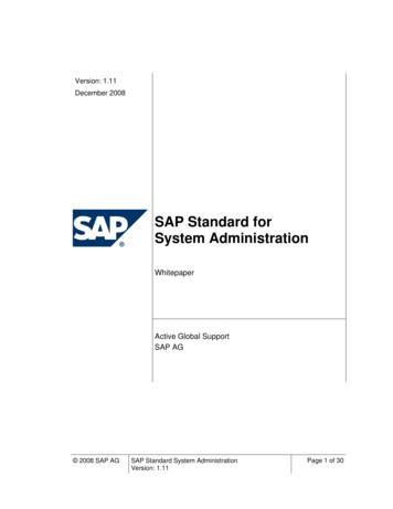 SAP Standard for System Administration