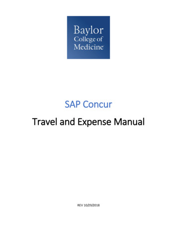 SAP Concur Travel and Expense Manual