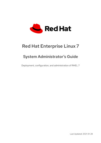 Red Hat Enterprise Linux 7 System Administrator's Guide