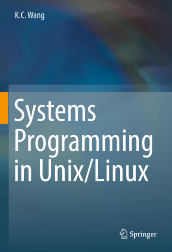 Systems Programming in Unix/Linux - Amazon S3