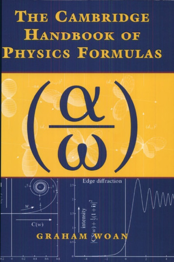 The Cambridge Handbook of Physics Formulas - Fisica