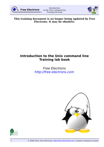 Introduction to the Unix command line - Lab book