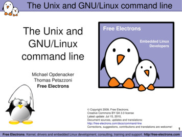 The Unix and GNU/Linux command line - Bootlin