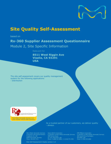 Site Quality Self-Assessment