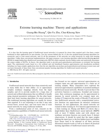 Extreme learning machine: Theory and applications