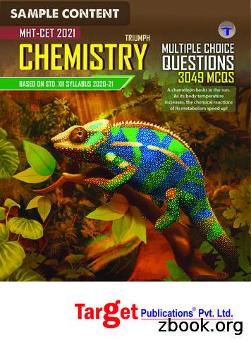 CHEMISTRY ample Content - Target Publications