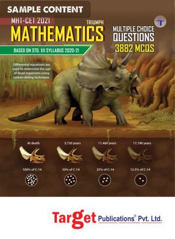 Sample PDF of MHT CET Triumph Maths Book by Target .