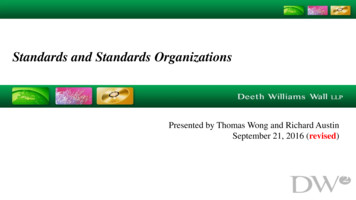 Standards and Standards Organizations
