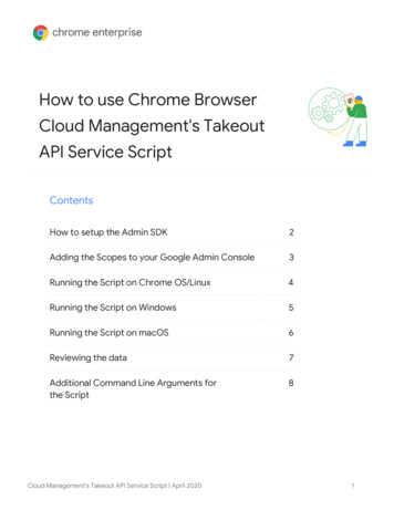 How to use Chrome Browser Cloud Management's Takeout API .