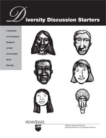 iversity Discussion Starters - MENTOR
