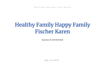 Healthy Family Happy Family Fischer Karen