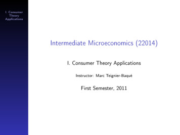 Intermediate Microeconomics (22014)