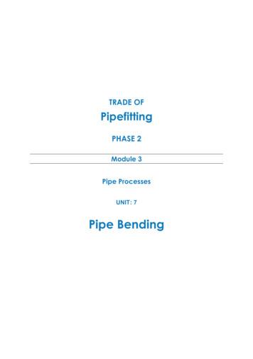 M3 U7 Pipe Bending - eCollege