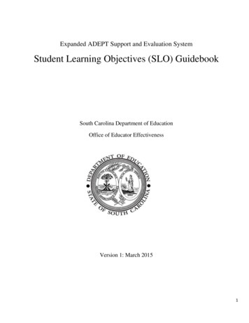 Student Learning Objectives (SLO) Guidebook