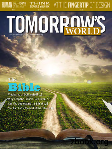 The Bible - Tomorrow's World
