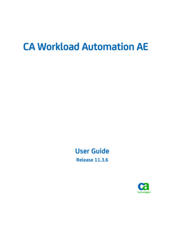 CA Workload Automation AE User Guide - Broadcom