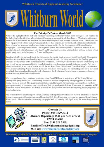 Whitburn Church of England Academy Newsletter