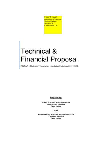 Technical & Financial Proposal