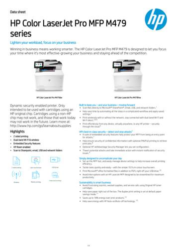 series HP Color LaserJet Pro MFP M479