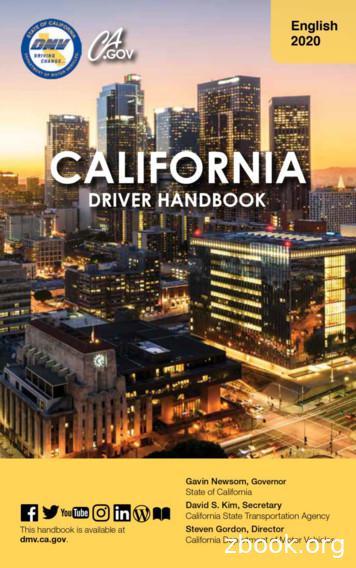 English 2020 California Driver Handbook