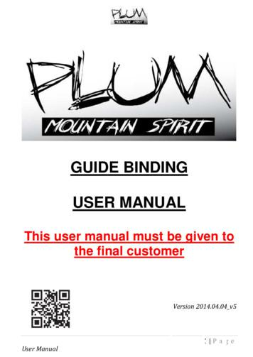 GUIDE BINDING USER MANUAL
