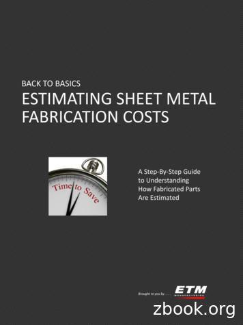 BACK TO BASICS ESTIMATING SHEET METAL FABRICATION COSTS