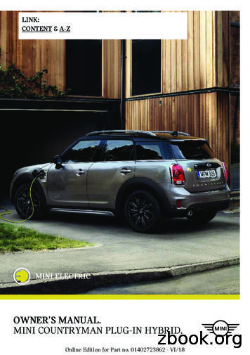 MINI COUNTRYMAN PLUG-IN HYBRID. OWNER'S MANUAL.