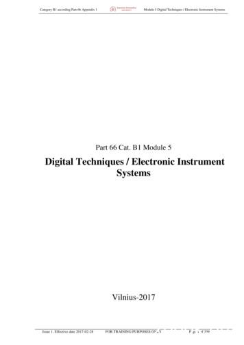 Digital Techniques / Electronic Instrument Systems