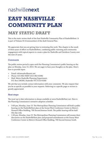 EAST NASHVILLE COMMUNITY PLAN