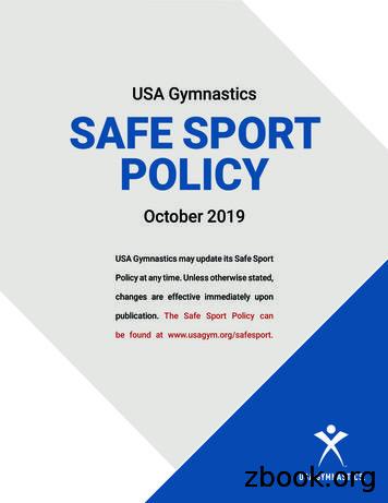 USA Gymnastics SAFE SPORT POLICY