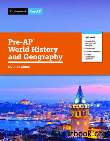 Pre-AP World History and Geography Course Guide