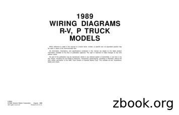 1989 WIRING DIAGRAMS R-V, P TRUCK MODELS