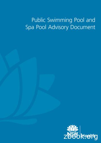 Public Swimming Pool and Spa Pool Advisory Document
