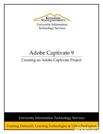 Adobe Captivate 9 - Kennesaw State University