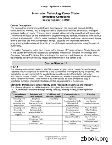 Information Technology Career Cluster Embedded