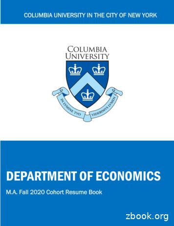 Updated Resume Book - Columbia University